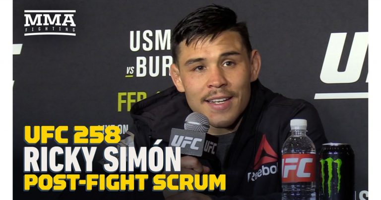 Video: Ricky Simon says he deserves ranked opponent after UFC 258 win, hopes Aljamain Sterling wins title