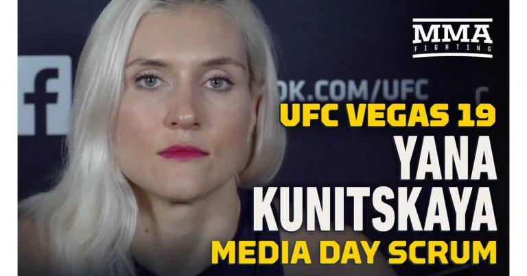 Video: Yana Kunitzkaya talks advantages of training with fiance Thiago Santos ahead of UFC Vegas 19