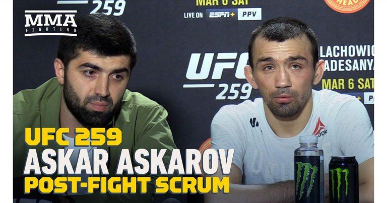 Video: Askar Askarov calls for title shot against the winner of Deiveson Figueiredo vs. Brandon Moreno 2