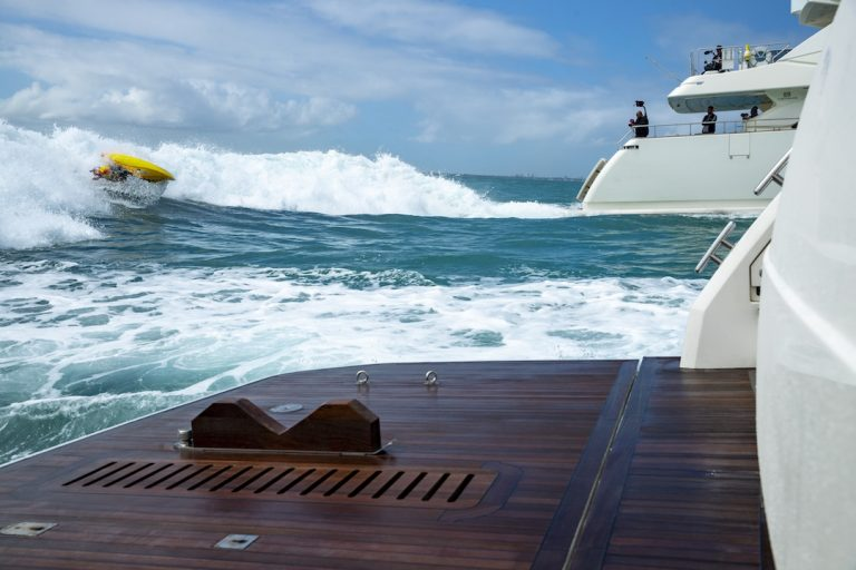 Between Two Yachts: Kayaker Dane Jackson Finds Surf in Miami