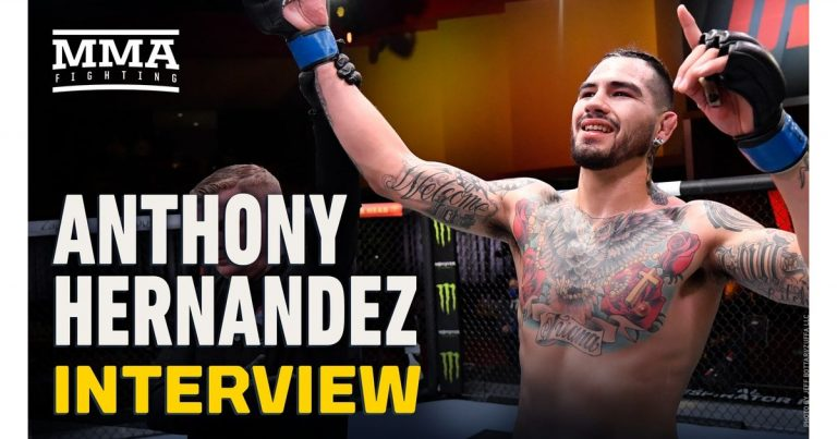 Video: Anthony Hernandez on upset win, bonus at UFC 258: 'Now I can get my kids the house they deserve'