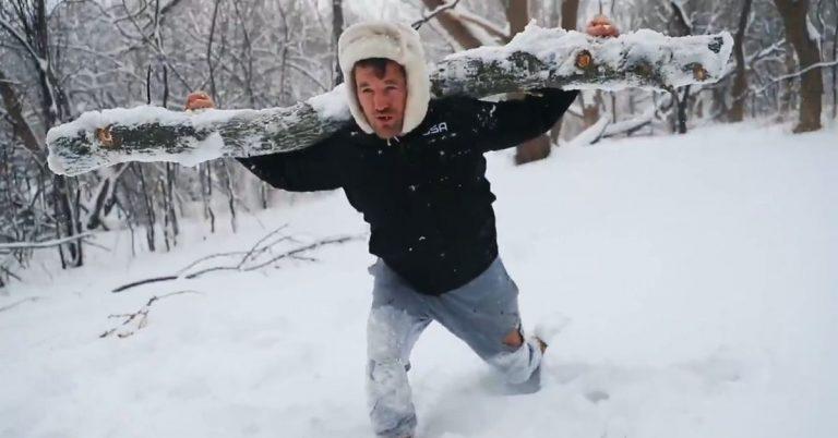 Video: Ben Askren trains like 'Rocky' ahead of Jake Paul boxing match
