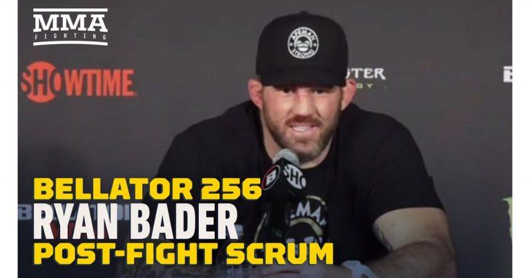 Video: Ryan Bader talks getting revenge on Lyoto Machida, having no preference in potential grand prix opponents