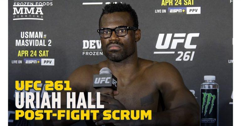 Video: Uriah Hall reacts to Chris Weidman's leg break in UFC 261 matchup: 'It's unfortunate'