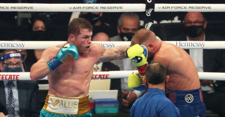 Canelo Alvarez vs. Billy Joe Saunders full fight video highlights